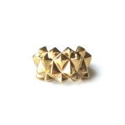 130 ph0 Studs Ring Bold Brass Glossy voren