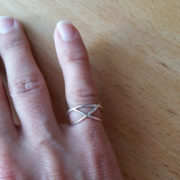 Mesh ring on finger