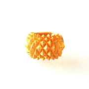 Studs Ring Bolder goldplated on white front 2