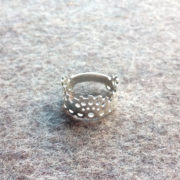 Modern Lace Ring silver on felt