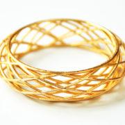 Bracelet Circles Sleek goldplated liggend