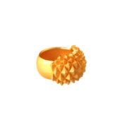 Studs Ring Bolder goldplated side on white