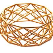 Constrcutionist Bracelet brass op wit