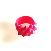 Ring Studs Nylon Pink on white 300x220