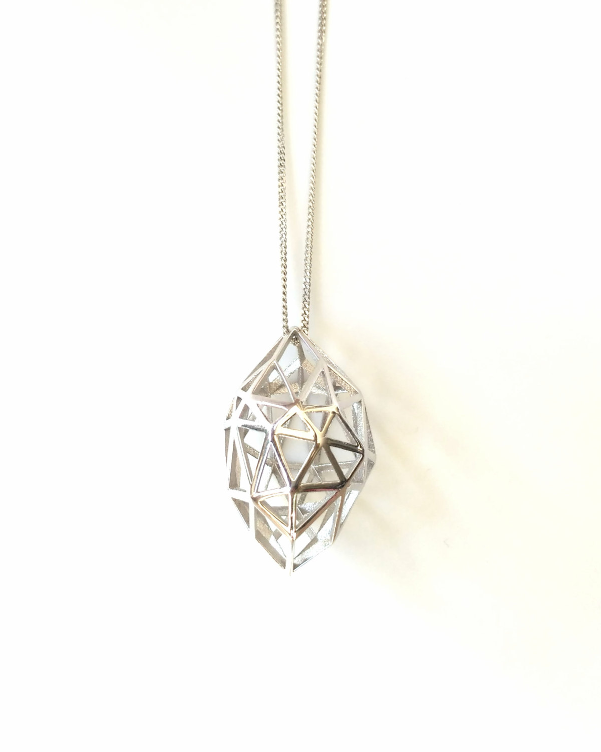 en gold diamond yellow pendant carat baunat trilogy in