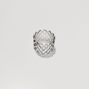 mesh ring silver on white