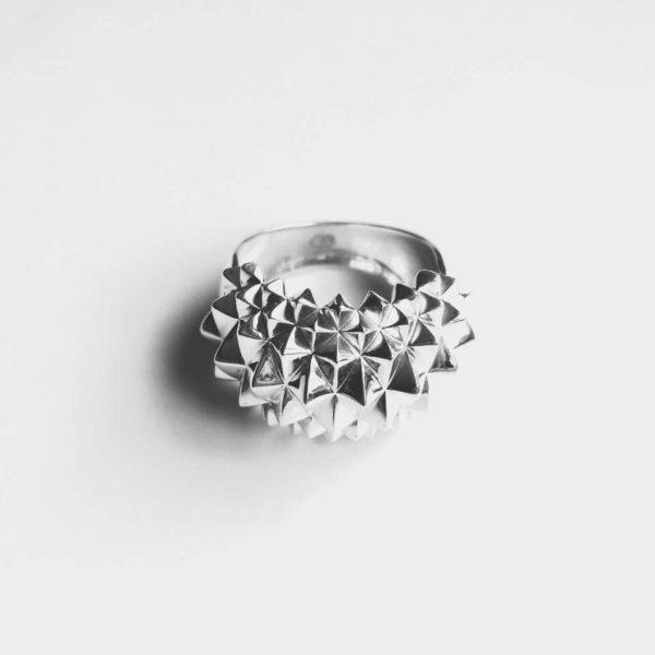 Ring Studs Bolder Silver blackwhite