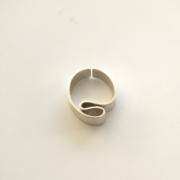 Folds ring on white